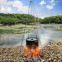 Holzkohlegrill silber Charcoal Grill Garten ✔ schwenkbar ✔ mit Dreibeinen