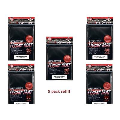 KMC 80 Card Barrier Hyper Mat Black (5 Packs/total 400): Toys & Games