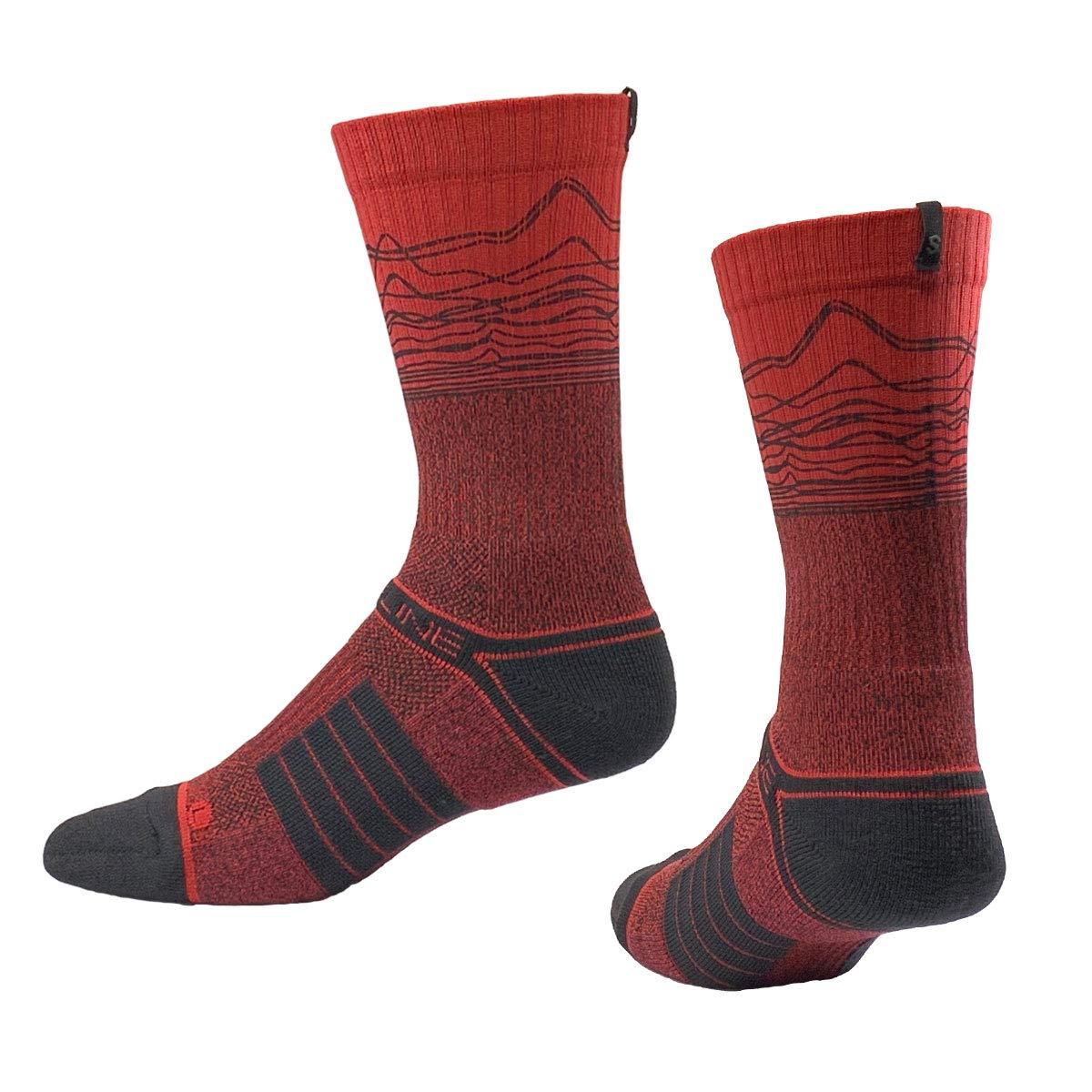 Strideline EKG Red Heartbeat Love Crew Socks