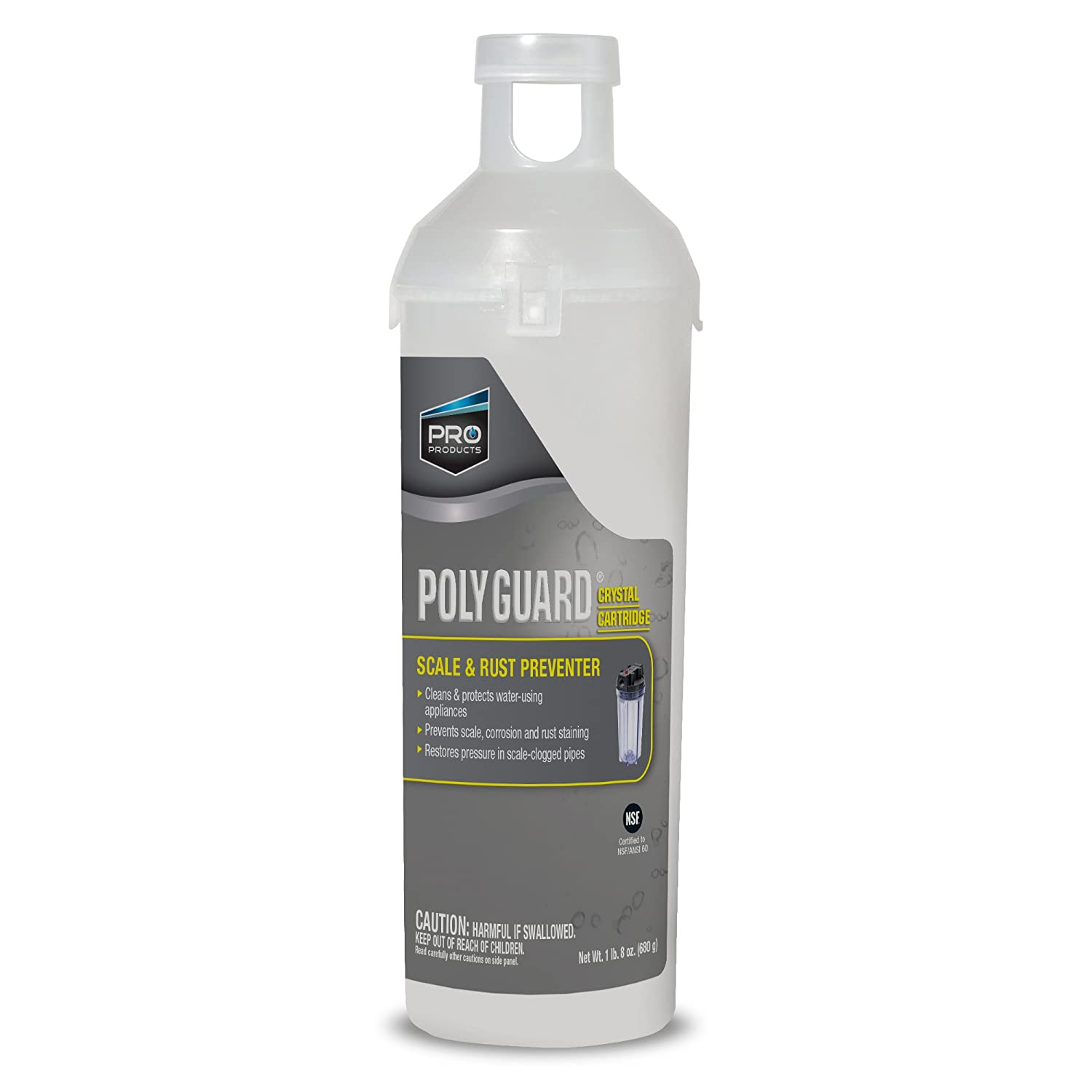 Poly Guard GP10C System Replacement Cartridge, Scale & Rust Preventer, Up To 6 Month Supply