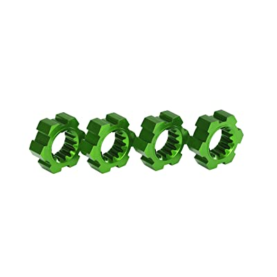Traxxas Anodized-Aluminum Wheel Hubs Accessories/Tools, Green: Toys & Games
