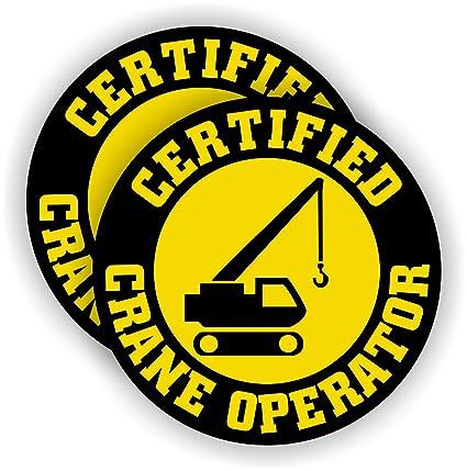d1b85a7639e Certified Crane Operator Hard Hat Sticker