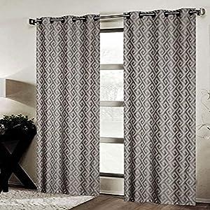 CHD Home Textiles Mortlake Curtain Panel, Silver