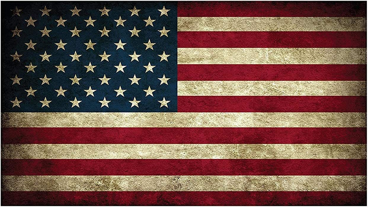 Rustic American Flag Decal Vinyl Graphic Bumper Sticker perfect for your car, truck, suv, rv, motorcycle, scooter, van, semi or whatever it is you drive.
