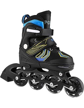 OUTCAMER Unisex Kids Inline Skates Indoor Outdoor Adjustable Size Roller  Skates Children with Flash Wheel Best b87b9d289d0