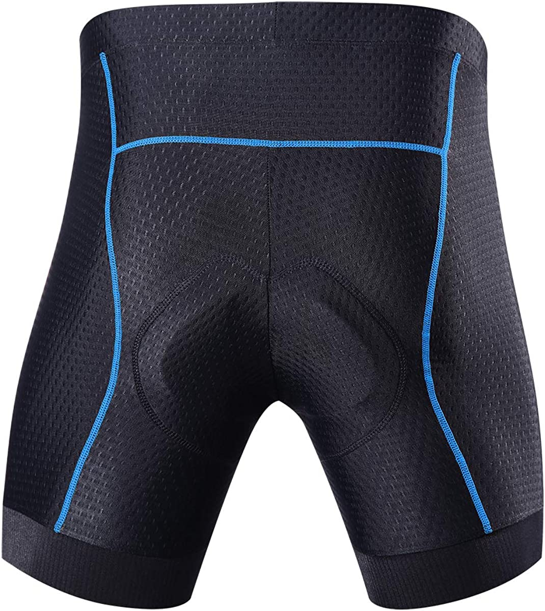 Souke Sports Men's Cycling Underwear Shorts 4D Padded Bike Bicycle MTB Liner Shorts with Anti-Slip Leg Grips: Clothing