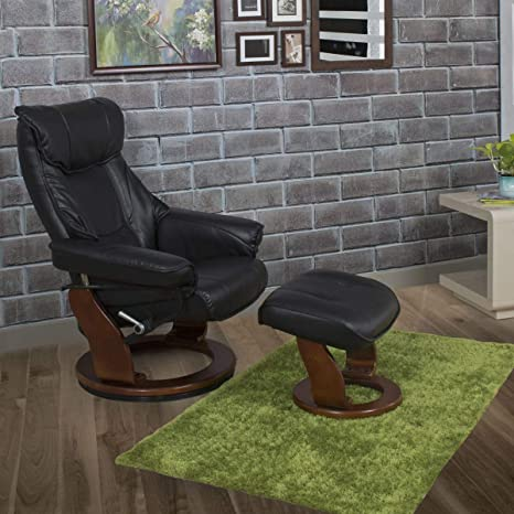 Strange Home Centre Silas Lounge Chair With Footrest Black Bralicious Painted Fabric Chair Ideas Braliciousco