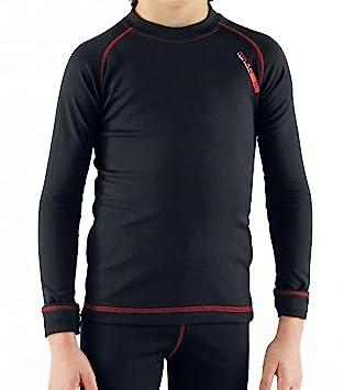 Camiseta térmica para niño de manga larga, ideal para deportes de invierno o situaciones de
