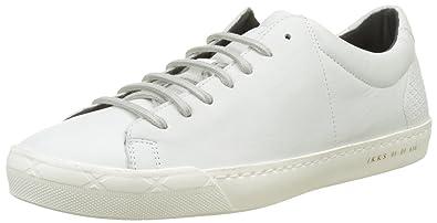 d44adbf338422 IKKS Sneakers Baskets Basses Homme, (Blanc), 45 EU: Amazon.fr ...
