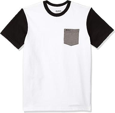 RVCA Ollie Camisa de cuello redondo de manga corta para niño - Blanco - Small: Amazon.es: Ropa y accesorios