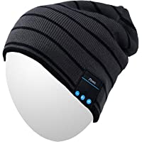 $39 » Qshell Mens Womens Outdoor Sports Music Beanie Hat with Stereo Speaker Headphones…