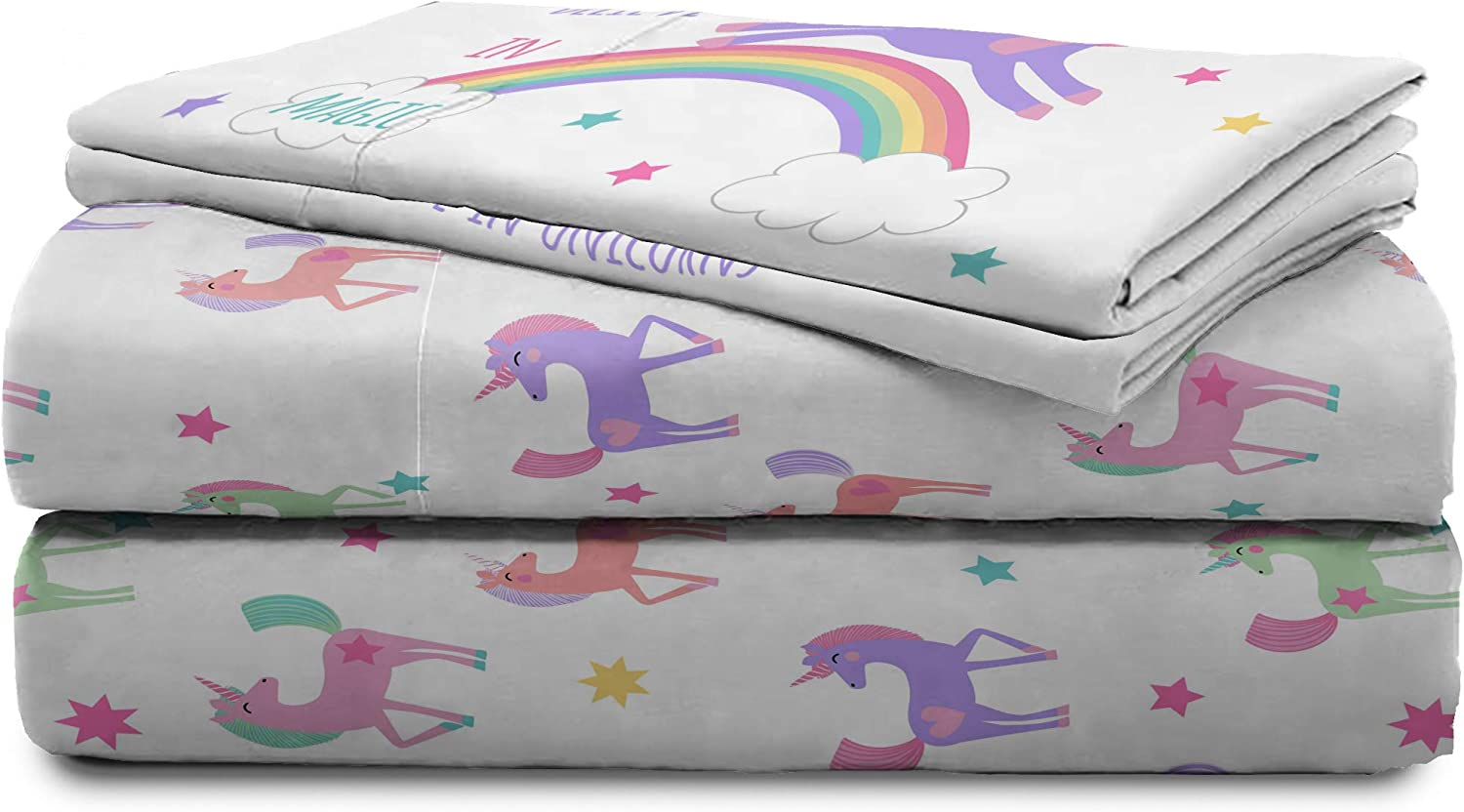 Jay Franco Trend Collector Believe Full Sheet Set 4 Piece Set Super Soft and Cozy Kid/'s Bedding Fade Resistant Microfiber Sheets