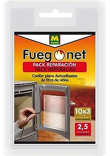 FUEGO NET Fuegonet 231331 Cordón Plano Auto Adhesivo Negro 10.5x3x16 cm