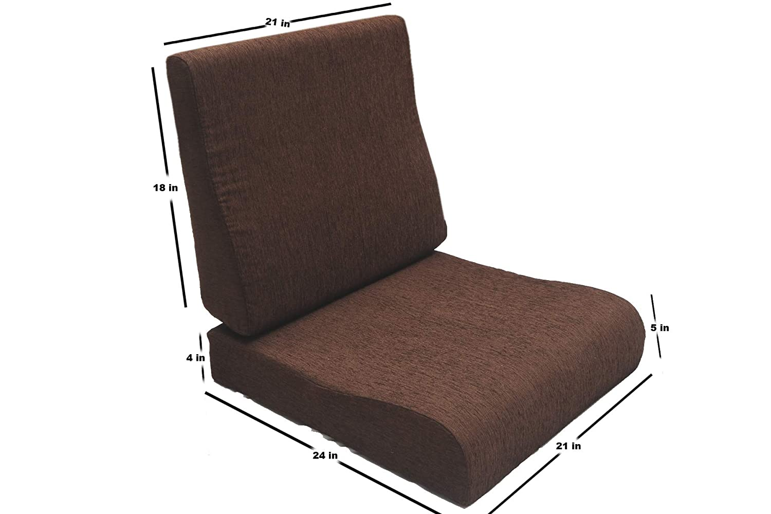 Buy FLEXI COMFORT Cushion, 21 x 24 inch, 21 x 18 inch, Brown Online at Low Prices in India - Amazon.in