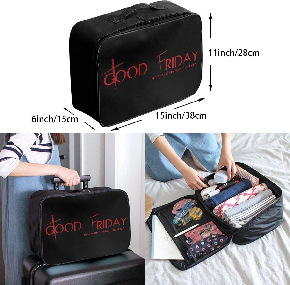 Good Friday.jpeg Travel Carry-on Luggage Weekender Bag Overnight Tote Flight Duffel In Trolley Handle