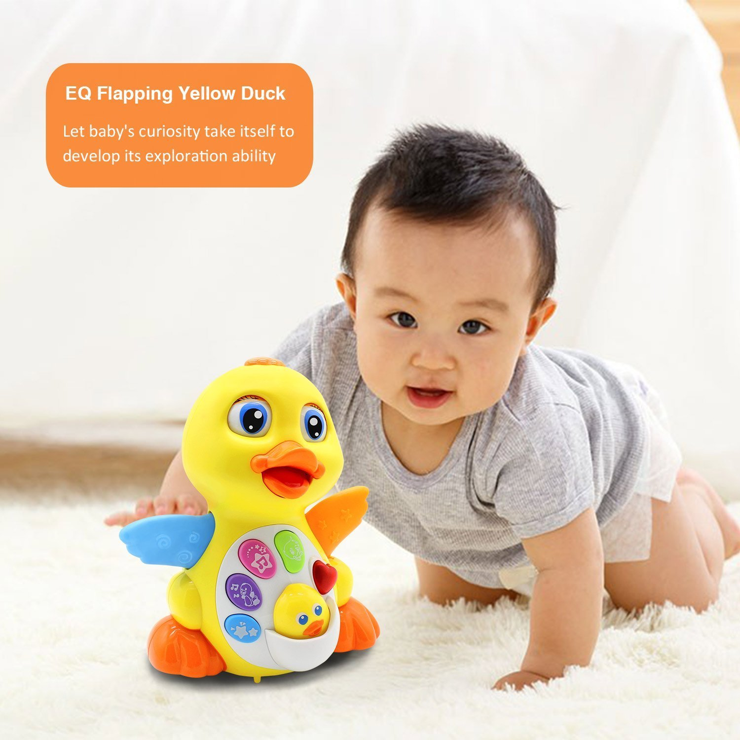 Amazon Baby Toys 6 to 12 Months up Lovely Dancing Yellow Duck