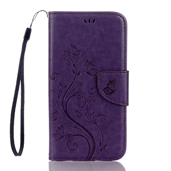 buy popular d890b 6a2df Galaxy S7 Active Case,S7 Active Wallet Case Butterfly Flip Folio PU Leather  Kickstand Wallet Purse Case Credit Card Slots Cash Holder for Samsung ...
