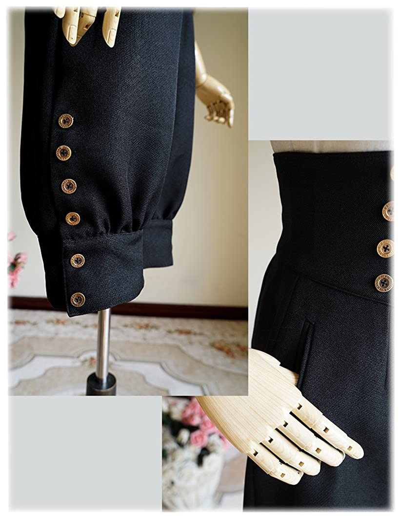 d06eed736a Clothing Fanplusfriend Steampunk Riding Breeches High Waisted Shorts Black  Shorts Women Shorts Women