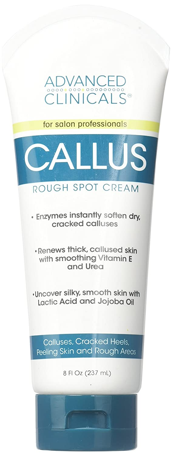 Advanced Clinicals for SALON PROFESSIONALS BIG 237 ml. Callus Cream. Best Foot Cream for callus and rough spots. For Rough Dry Skin on Feet, Hands, Elbows
