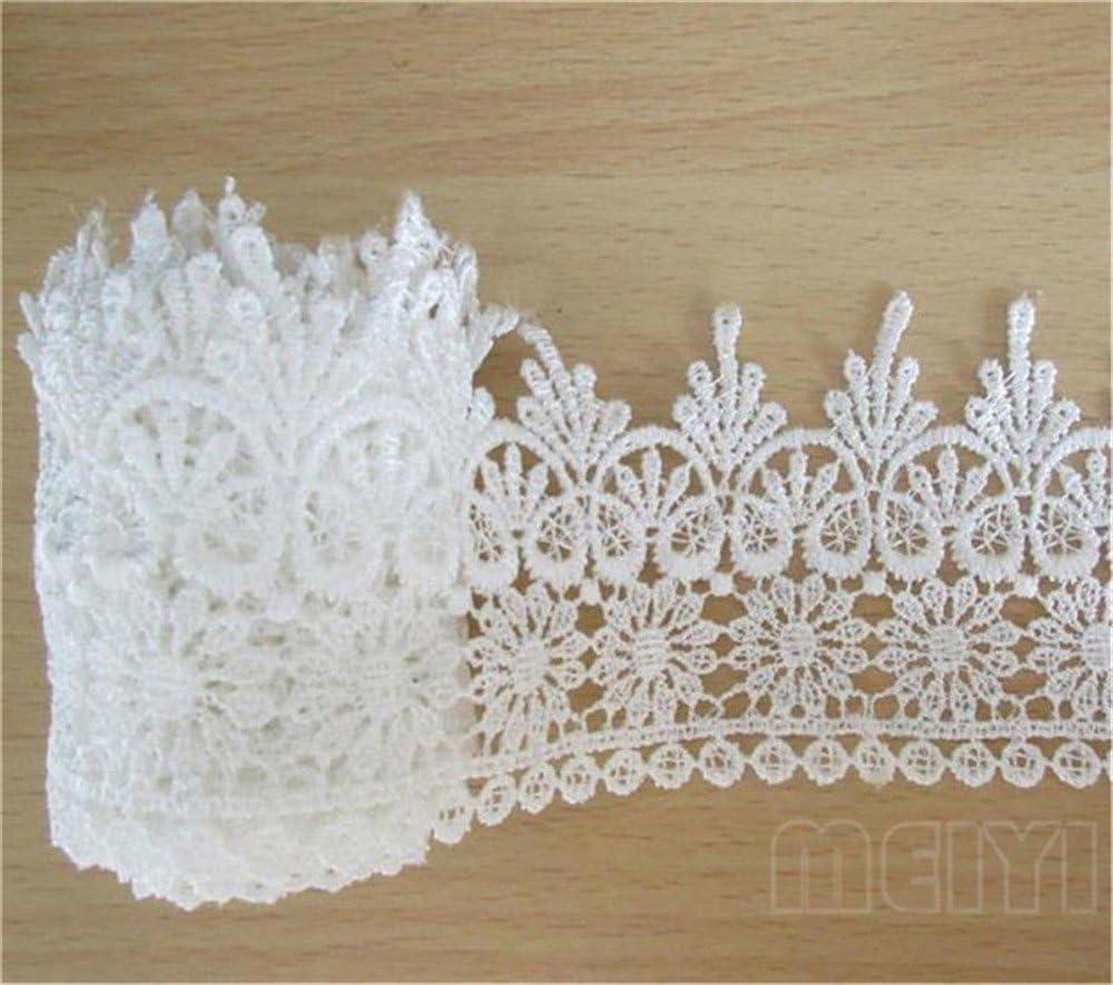 wedding trim floral motif white lace 2 wide eyelet lace Vintage lace trim bridal lace