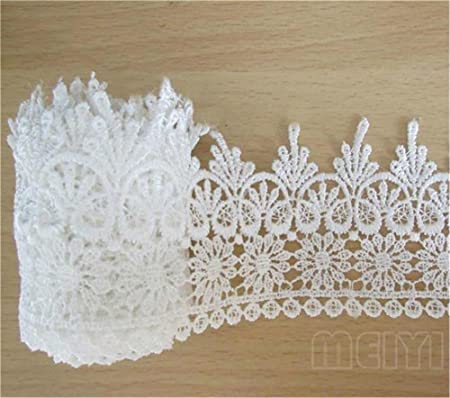 1 3//4 inch wide Flower Lace Trim Venise Floral Embroidered  trim  select length