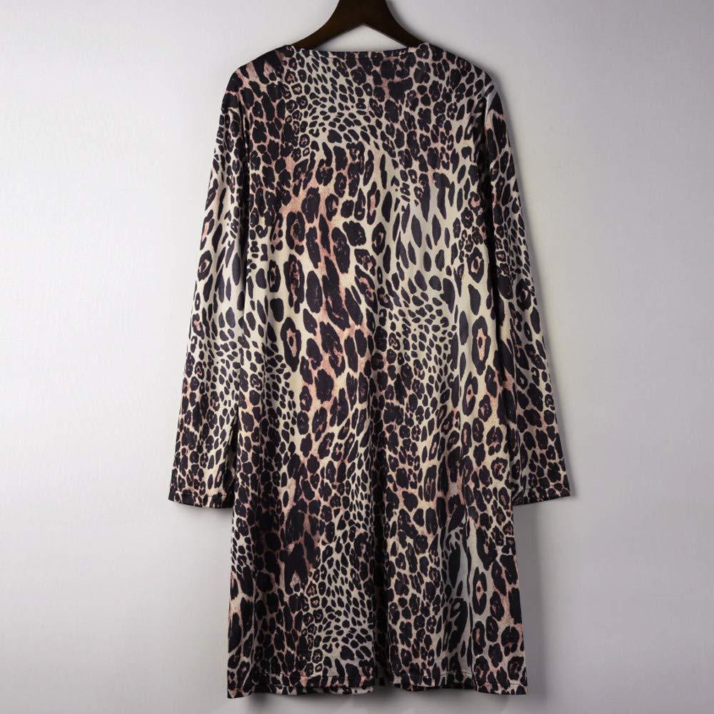 ❤ Abrigo Largo para Mujer Leopard Print, Fashin Camiseta Manga Larga Bllouse Camiseta Tank Tops Absolute: Amazon.es: Ropa y accesorios
