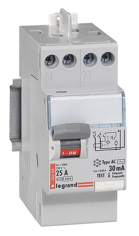 Legrand LEG92829 Interrupteur Diffé rentiel BIP 25A 30 Ma Type AC Protection coupe circuit sectionneur contacteur inter diff interrupteur differentiel declencheur telerupteur parafoudre inter horaire sonnerie inter sectionneur mesure horloge deleste