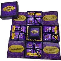 Easycraftz Purple Birthday Chocolate Explosion Box (Without Chocolates)
