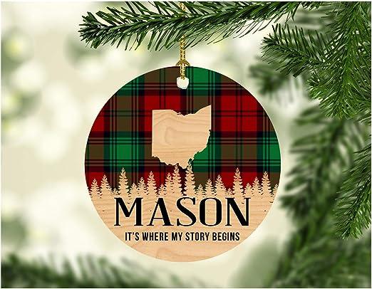 Christmas In Mason Ohio 2020 Amazon.com: Christmas Decorations Ornaments 2020 Mason Ohio It's