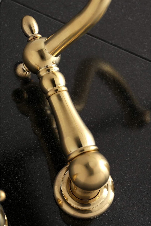 Kingston Brass KS1027AX Wall Mount Tub Filler Brushed Brass