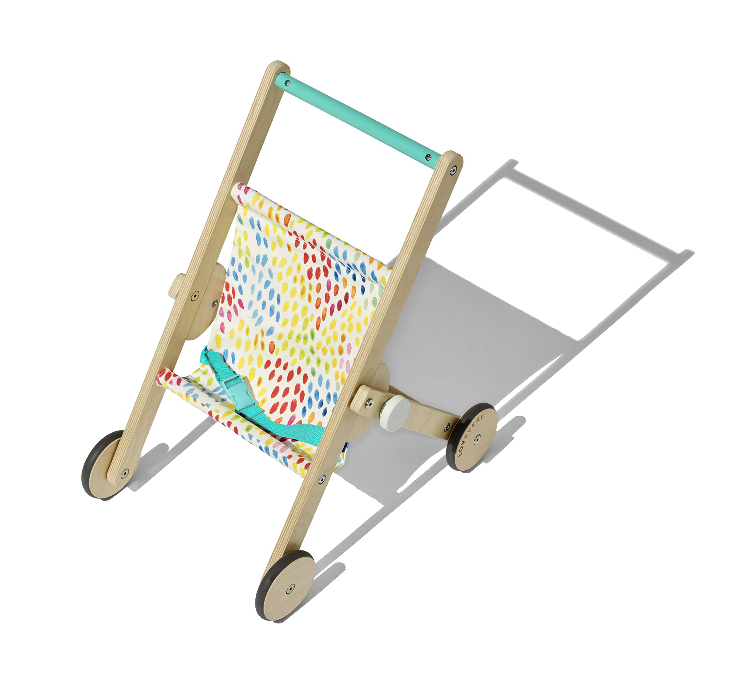 The Buddy Stroller by Lovevery - Wooden Toy Doll Stroller for Pretend Play