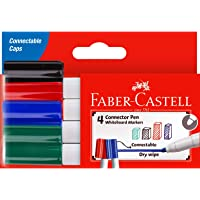Faber-Castell Connector Whiteboard Marker Assorted 4 Pack, (67-1592044)
