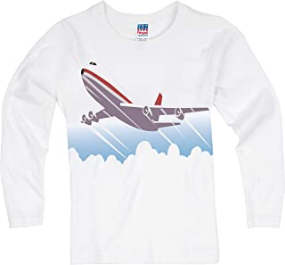 product image for Shirts That Go Little Boys' Long Sleeve Jet Airplane T-Shirt