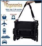 Quicksmart Back Pack Stroller Red Grey Amazon Co Uk Baby