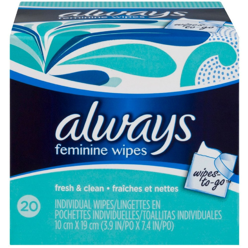 Always Wipes-to-Go 20 ea (Psck of 2)