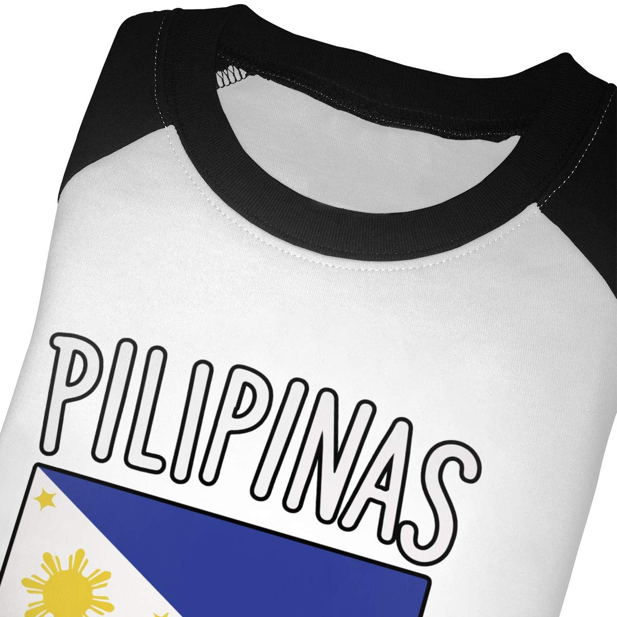 QPKMRTZTX0 Boys Girls Kids /& Toddler Philippines Flag1-1 Long Sleeve Tees 100/% Cotton