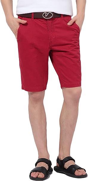TALLA 30W. Pau1Hami1ton Bermudas para Hombres, Pantalones Cortos Chino PH-01