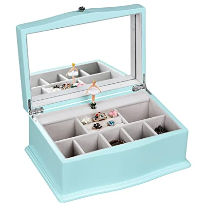 Amazoncom SONGMICS Girls Music Jewelry Box with Ballerina Unique