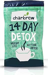 Charbrew té diurno detox 14 días té para bajar de peso (sin efecto laxante)
