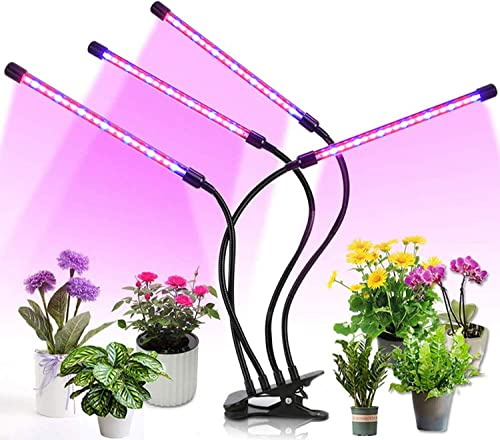 Grow Lights for Indoor Plants, Led Plant Light Lamps with Red Blue Spectrum Adjustable Gooseneck 3 9 12H Timer 9 Dimmable Level Smart Grow Light