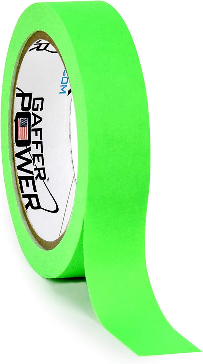 Labeling Tape - Fluorescent Green - Clean Removable Adhesive Tape   Console Tape for Light Control Board, DJ Mixing Board, Audio Mixer, Arts and Crafts, Office Products, Ink Pens and Markers  
