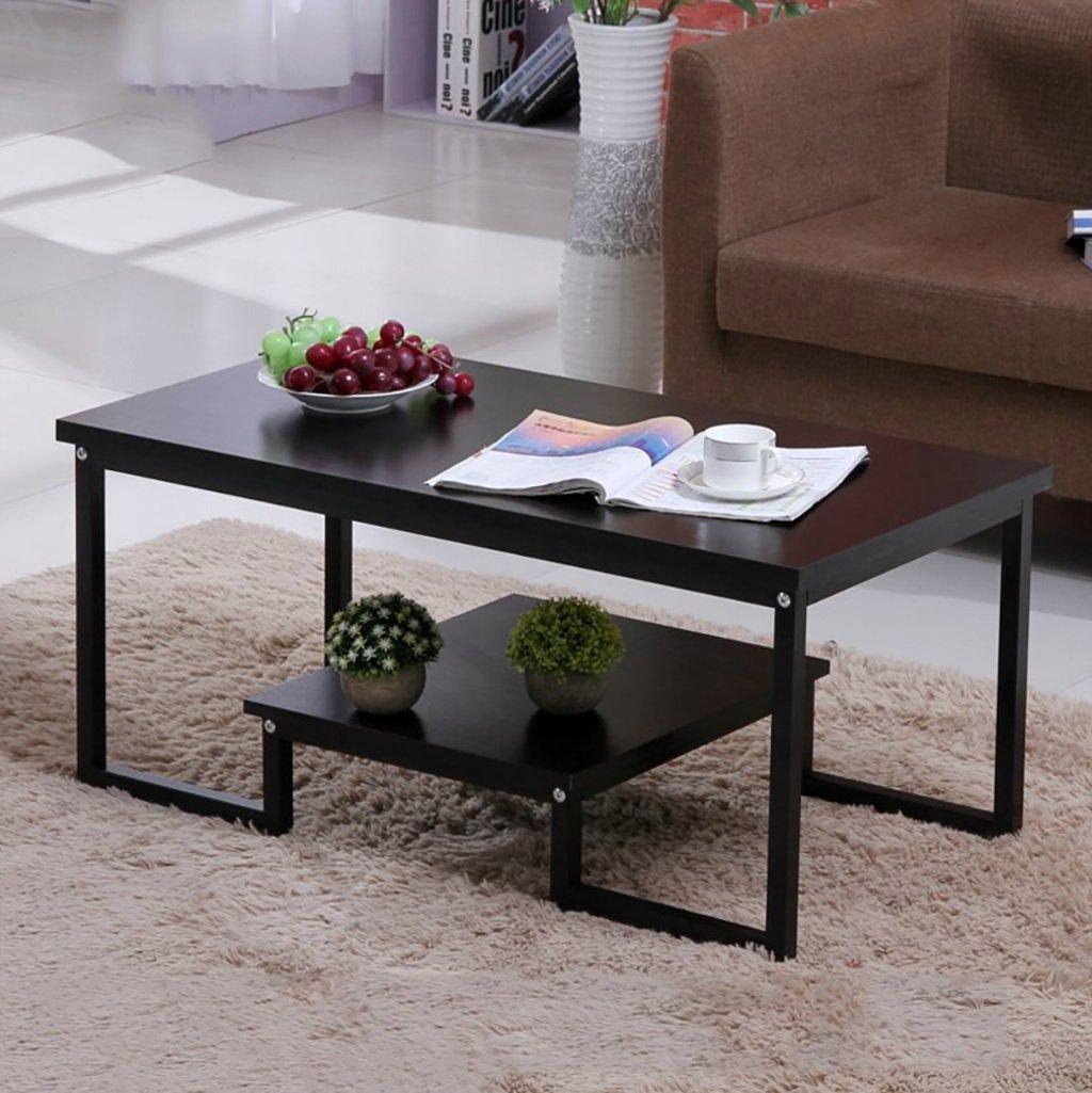 シンプルなダブル錬鉄製コーヒーテーブルクリエイティブリビングルームオフィスコーヒーテーブルティーテーブル (色 : E) B07F7YPL2W E E