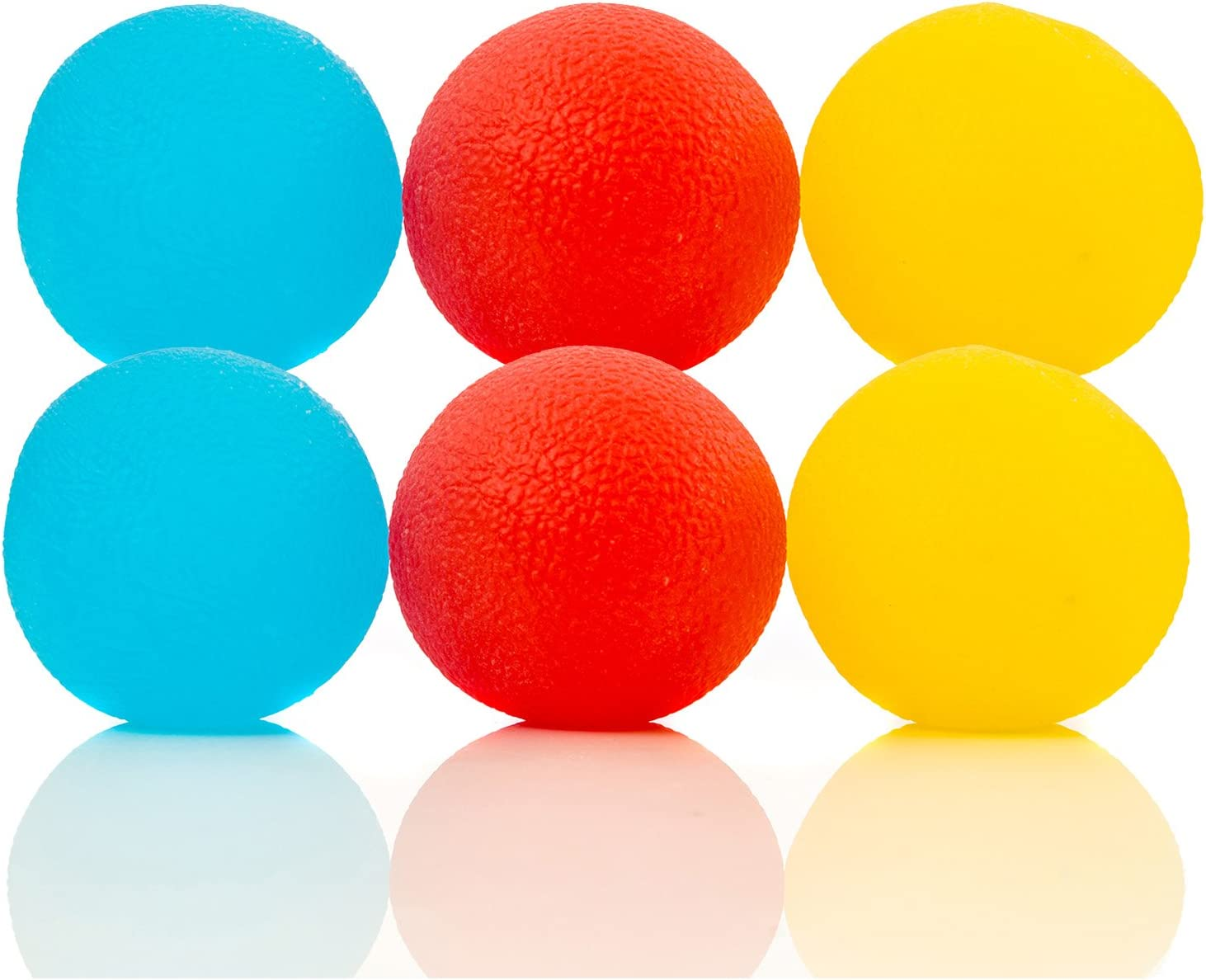 Impresa Products 6-Pack of Stress Relief Balls - Tear-Resistant Stress Ball, Non-Toxic, BPA/Phthalate/Latex-Free (Colors as Shown)