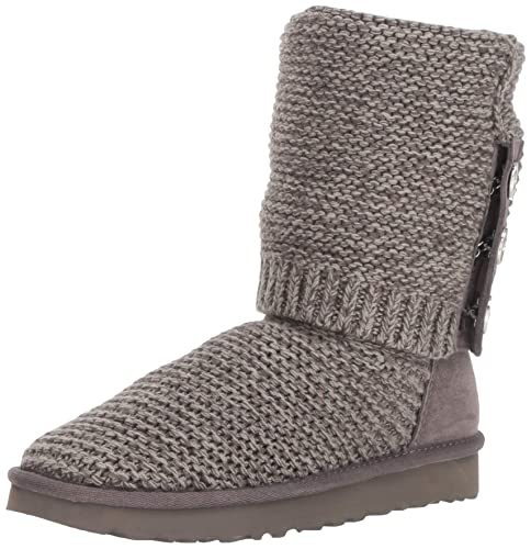 9ddade9cee0 UGG PEARL CARDY KNIT Boots 2019 charcoal