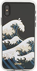 Sonix Tokyo Wave Case for iPhone X/XS [Military Drop Test Certified] Protective Clear Case for Apple iPhone X, iPhone Xs