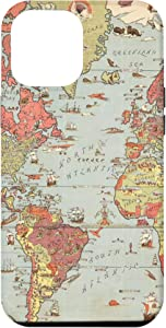 iPhone 12 Pro Max Old World Map Phone Cover Case Map of the World Case