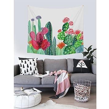 PYHQ Nature Cactus Tapestry Wall Hanging Hippie Urban Picnic Blanket Art Bohemia Throws Curtain Yoga mats rugs Bedspread Bedsheet 60x50 Summer ...
