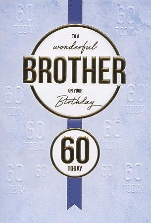 Geburtstagskarte Gluckwunschkarte Bruder 60 Geburtstag Amazon De