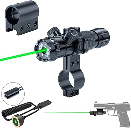 Tactical Red Dot Laser Sight W//Barrel Ring Clamp Scope Mount Holder for Hunting