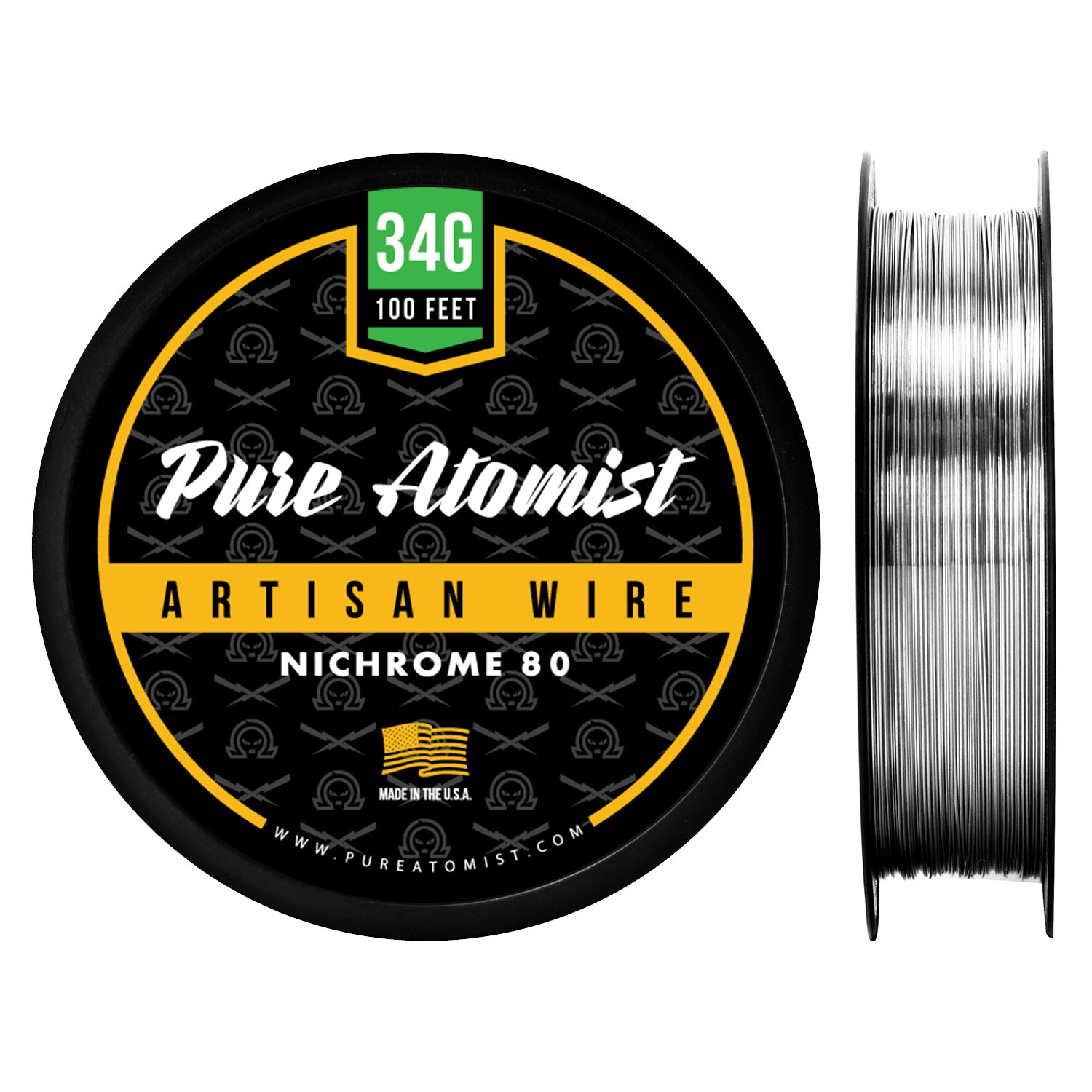 Pure Atomist PA N80 34G100 Nichrome 80 34 Gauge 100 ft. Resistance Wire